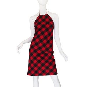 Ralph Lauren RRL Dresses - Ralph Lauren red black plaid halter dress